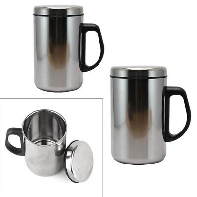 Stainless Steel Insulated Thermal Bottle Water Cup Sport Mug Coffee Travel Drink](Travel Cups)