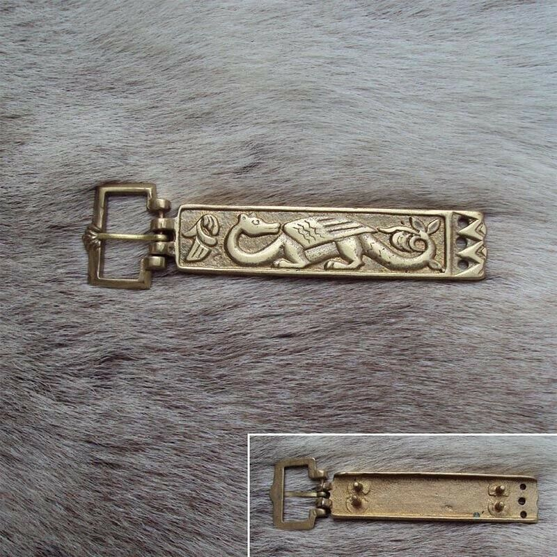 Viking Wolf Brass Belt Buckle Ideal For LARP Or Re-Enactment
