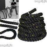 "1.5"" Poly Dacron 30 ft Battle Rope Workout Strength Exercise Training Rope Black"