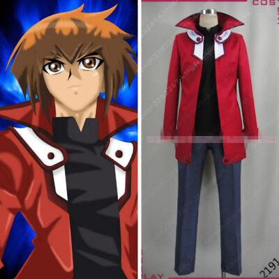 Yu-Gi-Oh! GX Jaden Yuki Suit Uniform Cosplay Costume Custom Made