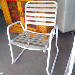 Set of 4 Outdoor Stacking Chairs Kitchener / Waterloo Kitchener Area image 2