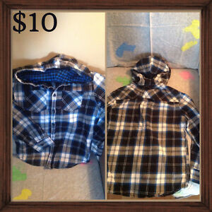 Boys size 10/12 button front shirts