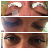 eyelash extension, till 10th of august promotion55 $
