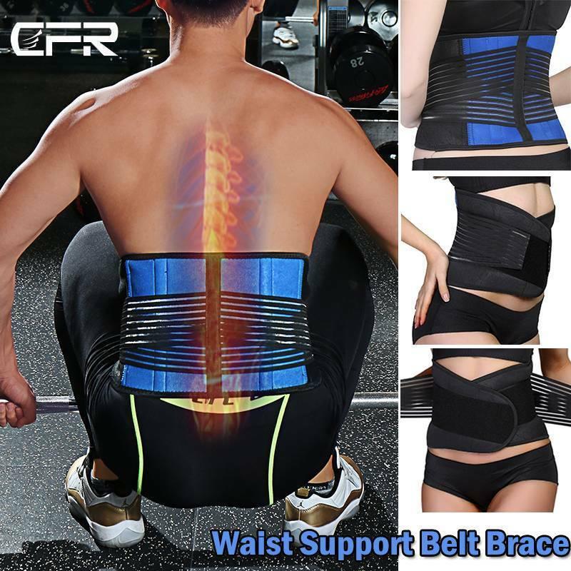 Adjustable Lower Back Support Waist Brace Belt Spine Pain Re
