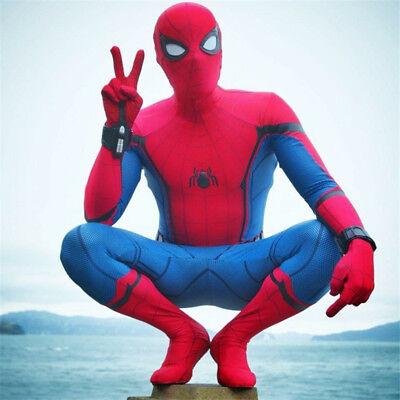 Spider-Man Homecoming Cosplay Costume Zentai Civil War Jumpsuit Adult Halloween - Spiderman Civil War Costume
