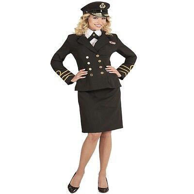 Damen Kostüm NAVY CAPTAIN Gr. S 34/36  Marine Offizier Seemann #5919 Karneval