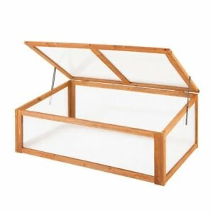 NEW Wooden Garden Plant Vegetable Cold Frame Mini Green Grow House