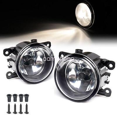 Pair Fog Light Lamp Replacement w/ H11 Bulb For Acura Honda Ford Nissan Subaru