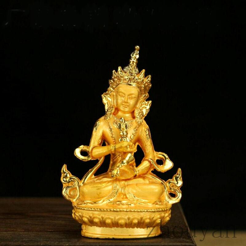 BLESSED TIBETAN BUDDHA GOLD GILT BUDDHISM STATUE / GIFT BOX  VAJRASATTVA SEMPA