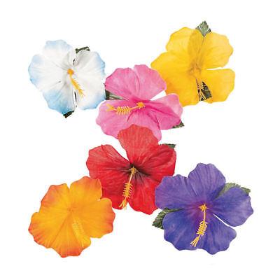24 Hibiscus Flower Tropical Luau Decorations Beach Wedding Pool Table Decor