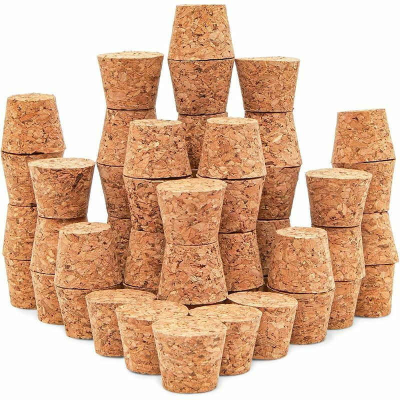 """50 Pack Size #9 Tapered Cork Plugs 1"""", Suitable for Most Wine and Beer Bottles"""