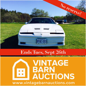 NO RESERVE! 1988 Trans am T-Top - Hasselhoff APPROVED!
