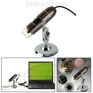 1000 x USB Digital Mikroskop Lupe Fach Video PC Microscope Kamera 8 LED Vergröße
