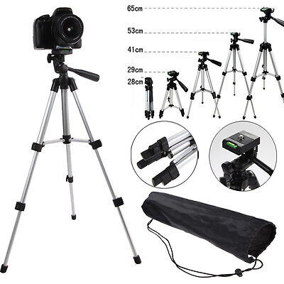 Universal Tripod Stand Mount Holder DSLR Camera Camcorder Phone Tilt Pan Head