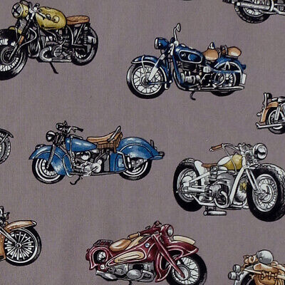 Nutex CLASSIC RIDE motorcycle motorbike Harley Indian Cafe Racer Fabric - Grey