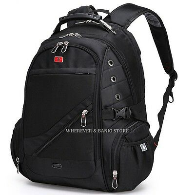 "Swiss Gear Men 17"" 15"" Laptop Backpack Outdoor Bag Swiss Style Business Case 84"