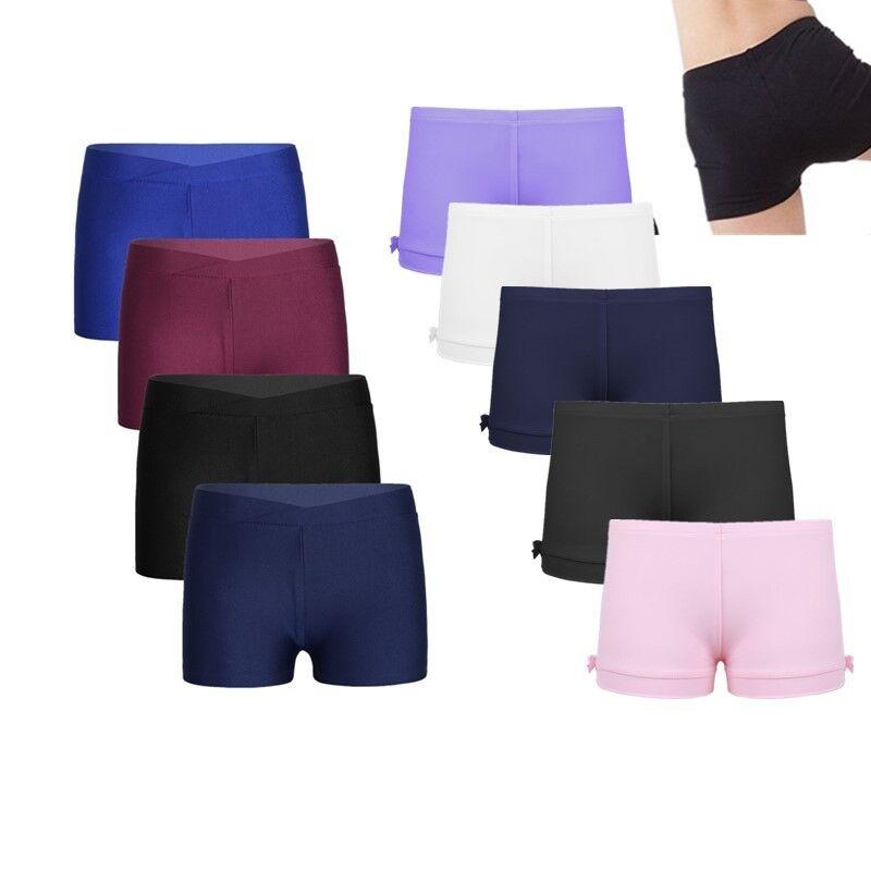 Boy Girl V-front Gymnastics Ballet Dance Shorts Pants Sports Workout Under Dress