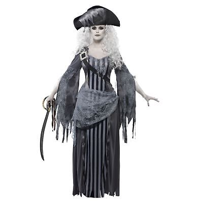Adult Ladies Ghost Ship Zombie Princess Pirate Halloween Costume Caribbean - Halloween Costumes Zombie Princess
