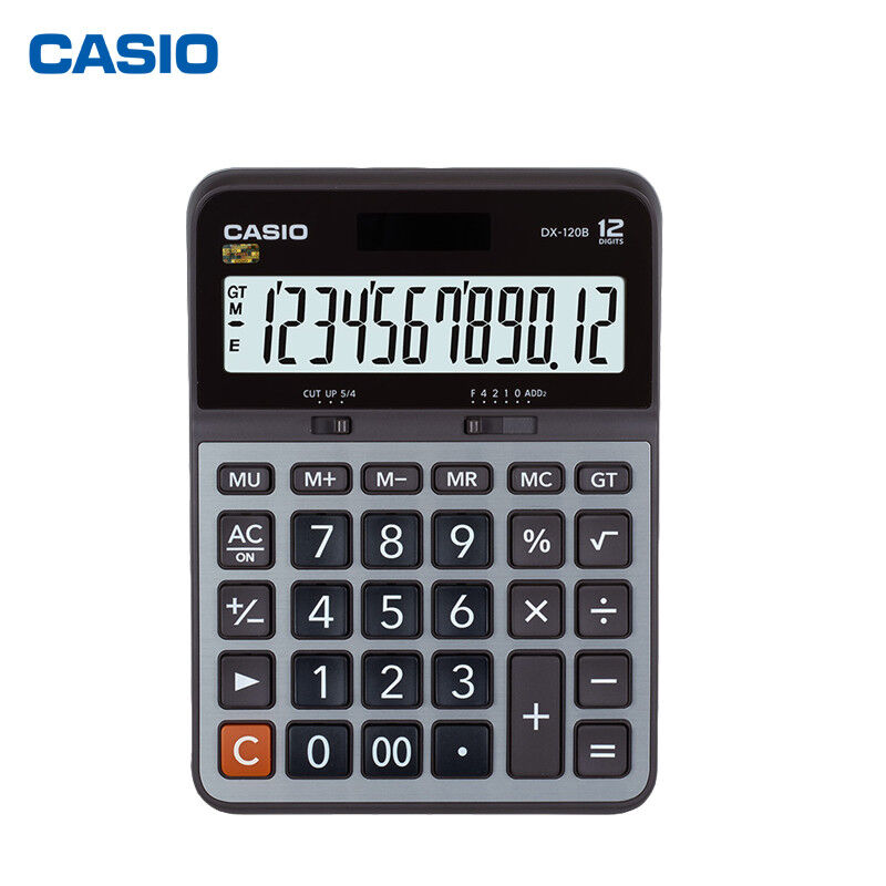 NEW Casio Electronic Calculator DX-120B 12-Digit EXTRA LARGE LCD Twin Power DX