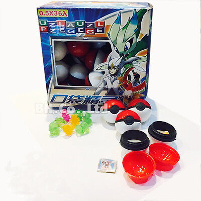 Pokemon ball 36pcs Small mega Monsters Pokeball Model Toy Boy&Girl Fun Kids Gift