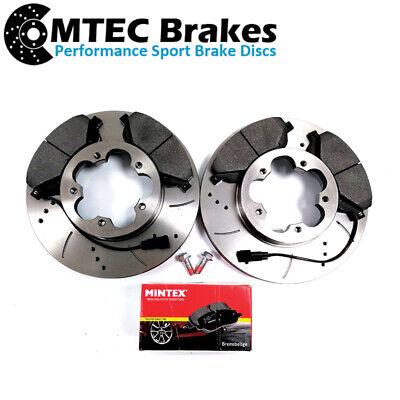 Transit Van MK7 2.2 TDCi FWD 06-14 Drilled Grooved Front Brake Discs Pads
