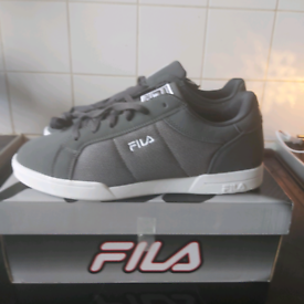 Mens fila trainers £20 size 9 new in box, grey in colour