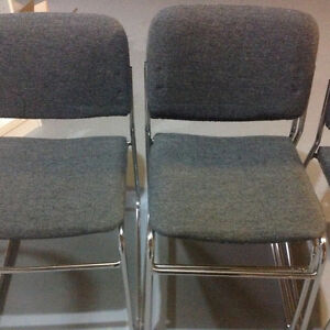 Chrome Stacking Chairs (set of four chairs) London Ontario image 3