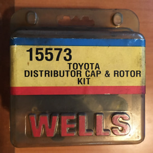 WELLS 15573 TOYOTA DISTRIBUTOR CAP & ROTOR KIT