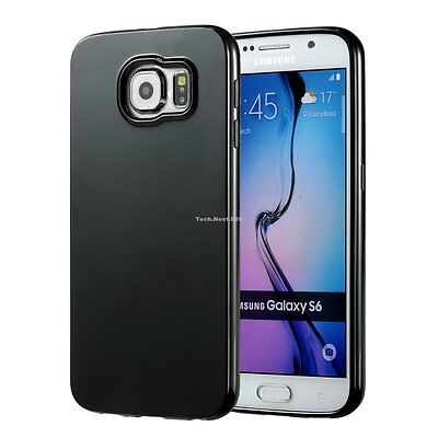 New For Black Samsung Galaxy S6 Case Silicone Bumper Gel Cover TPU Rubber Skin