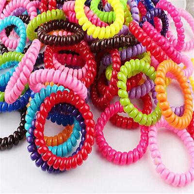 Hair Bands Elastics Bracelets Hair Ties Spiral Slinky Elastic Rubber rope HS13B - Slinky Hair Ties