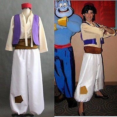 Cartoon Animation Aladdin Prince Cosplay Costume Men Costumes Full Set S M L - Aladdin Costumes For Men