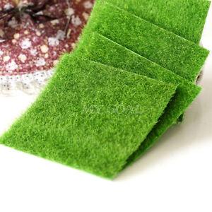 Artificial grass fake lawn miniature fairy garden ornament for Artificial grass decoration crafts