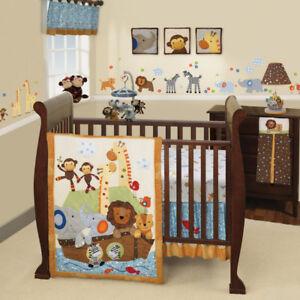 Lambs & Ivy 7-Piece Baby Crib Bedding Set