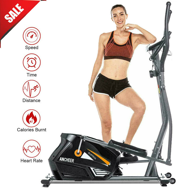 ANCHEER Magnetic Elliptical Machine Exercise Trainer Home Gy