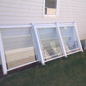 Glass Panels - White Frame