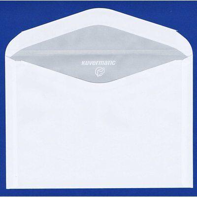 100 Briefumschläge (Kuverts, Briefumschlag) Offset weiß, B6, ohne Fenster, 125 x