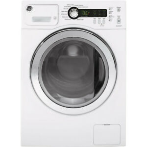 Front Load GE Washers and Dryers with ENERGY STAR For Sale White