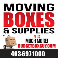 Time to move? New & Used Boxes 403-697-1000