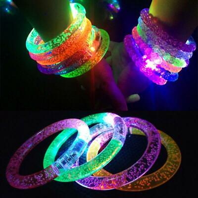 5/10x LED Flashing Bracelet Light Up Glow Bangle Wristband Party Kids Toy Gifts - Light Up Wristband