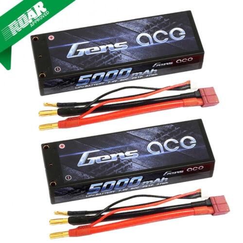 Купить Gens ace - Gens Ace 2S 5000mAh 7.4V 50C 2S1P HardCase Lipo Battery with Deans Plug (2)