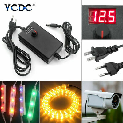 Adjustable Power Supply Adapter Multi-voltage Charger Acdc 3-36v Useu 24-72w