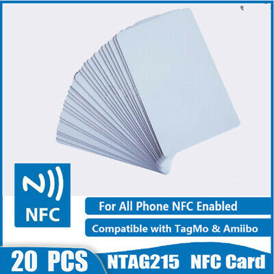 20x NFC NTAG215 Card 504Bytes for Android Tags 215 Chip Enable Amiibo TagMo US