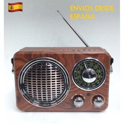 Altavoz Vintage Bluetooth Estilo Antiguo Radio FM/AM/SW USB SD MP3 AUX NUEVO!!!