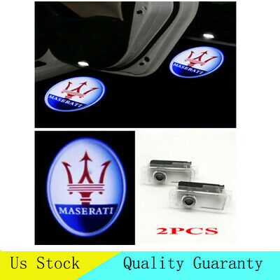 LED Car Door Light for MASERATI Quattroporte Ghibli Projector Logo Ghost Lamp 2X