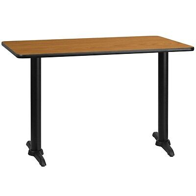 Flash Furniture 30 By 48 Rectangular Natural Laminate Table Top With 5 By 22 T