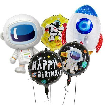 SPACE TO THE MOON ROCKET SHIP ASTRONAUT NASA Party BALLOON SUPPLIES PLANET