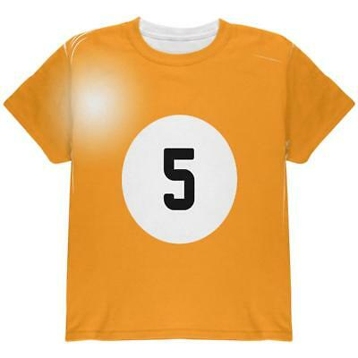 Halloween Billiard Pool Ball Five Costume Youth T Shirt - Pool Halloween