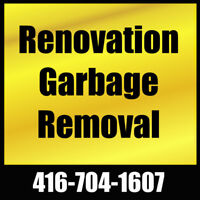 Renovation Garbage Removal   416-704-1607