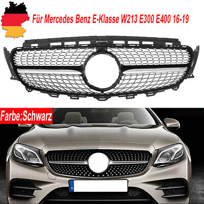 FOR MERCEDES BENZ E-KLASSE W213 16-19 KÜHLERGRILL NIEREN SCHWARZ CHROM DIAMANT