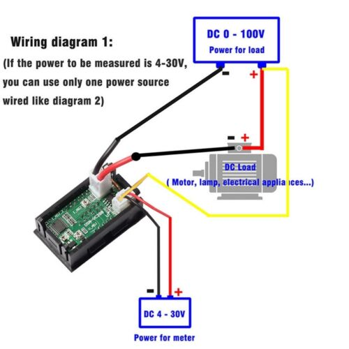 DC 100V 10A Voltmeter Ammeter LED Display Digital Volt Amp Meter Gauge ca